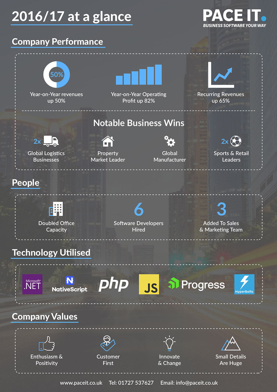 Pace IT Company Infographic