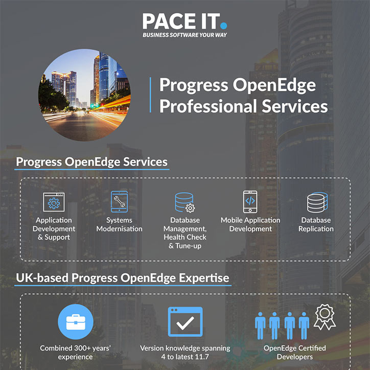 Why choose Pace IT for OpenEdge Professional Services?