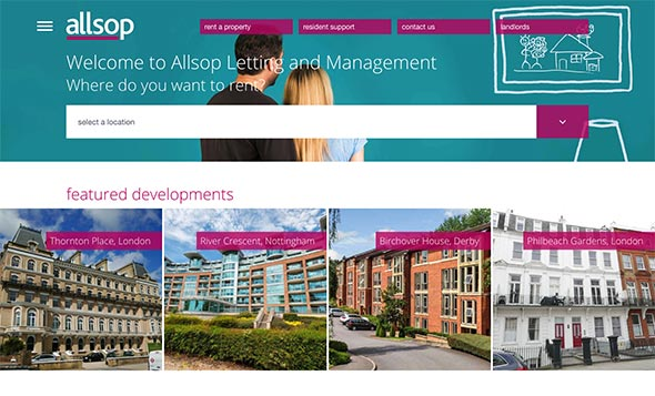 UI UX project Allsop Letting and Management