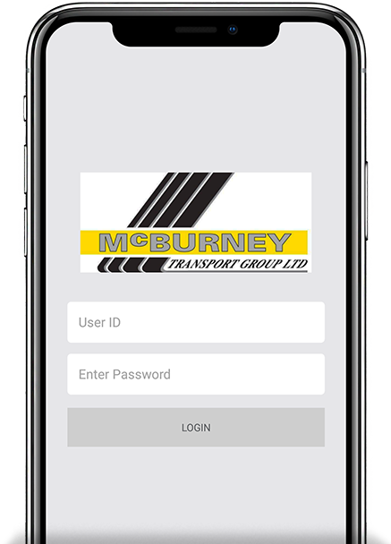 the mcburney app login screen
