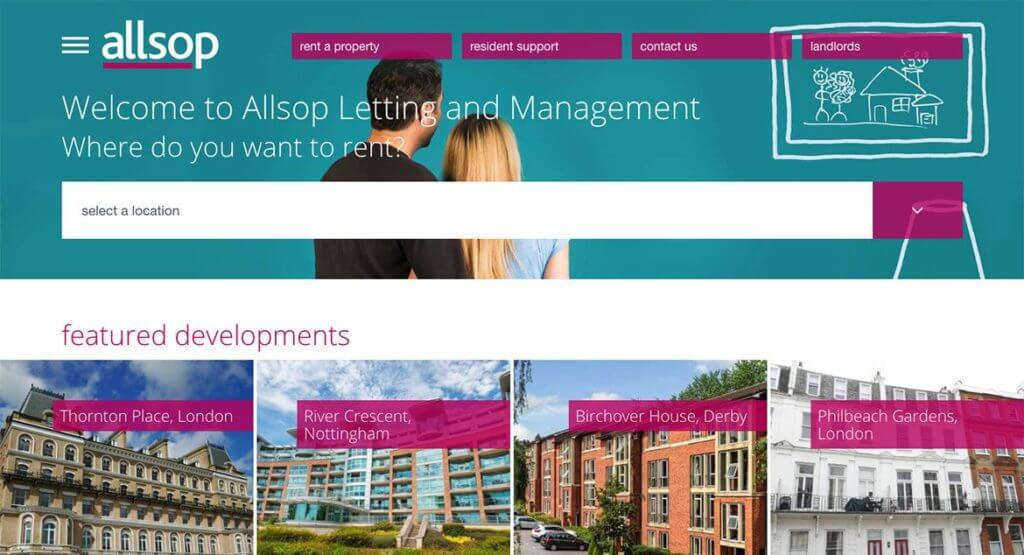 Allsop Letting and Management homepage